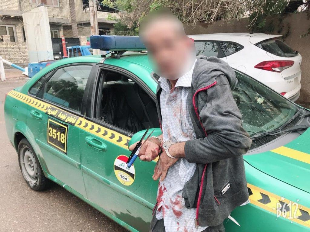 """صور: النجدة تقبض على """"قاتل"""" بعد 15 دقيقة من الجريمة في بغداد"""