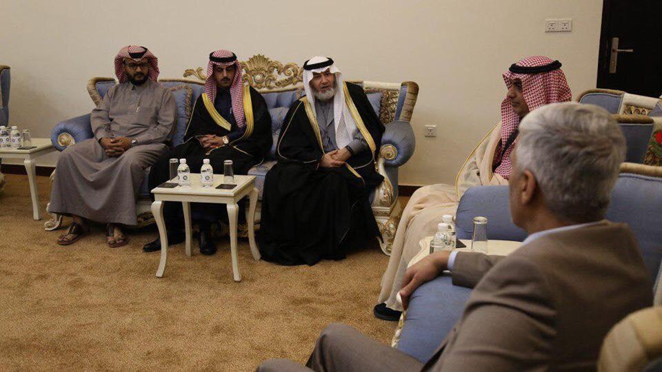 """صور: وفد سعودي في بغداد لمتابعة إنشاء المدينة الرياضية """"الهدية"""""""
