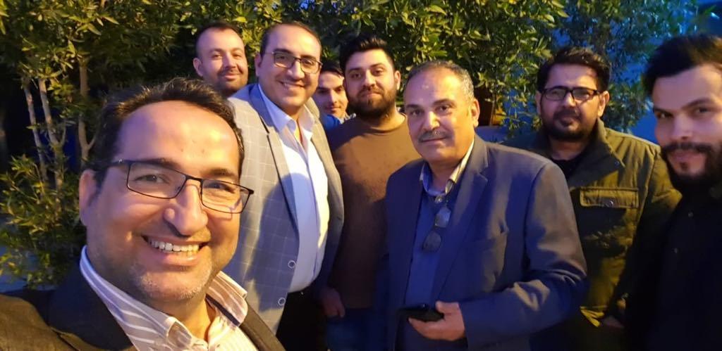 """صور: الإفراج عن الصحفي حسام الكعبي بعد اعتقاله على خلفية """"انتقاد جهاز الامن الوطني"""""""
