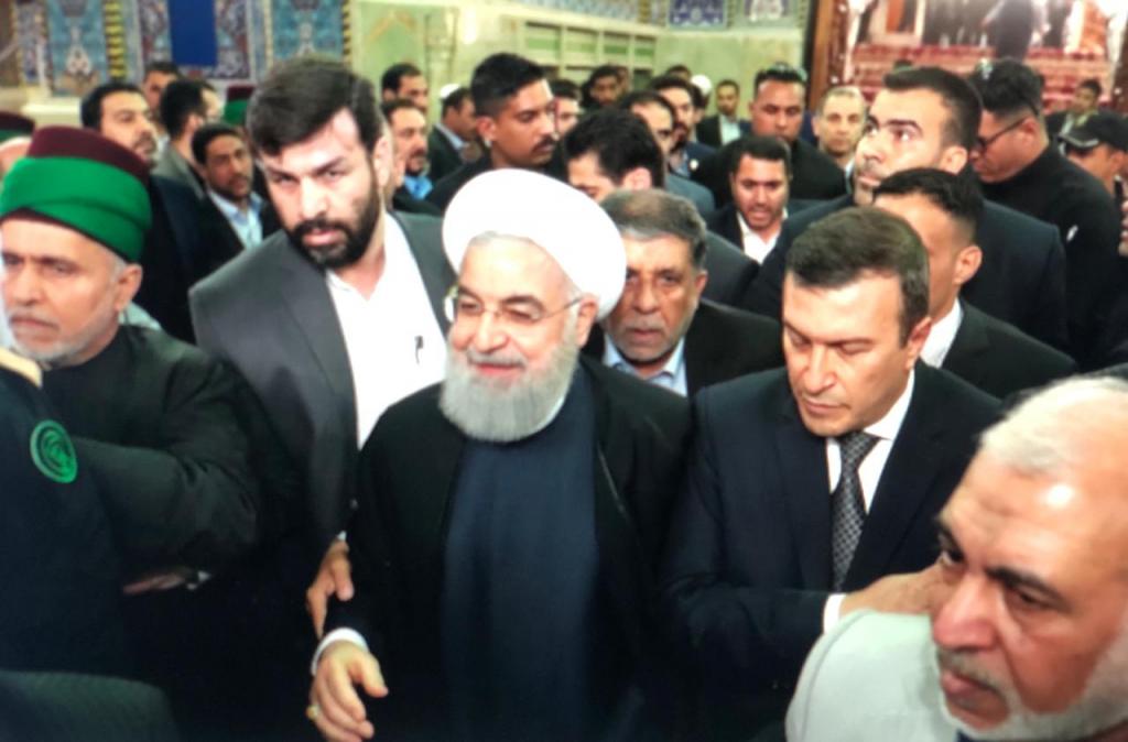 صور..روحاني يلتقي شيوخ عشائر في كربلاء