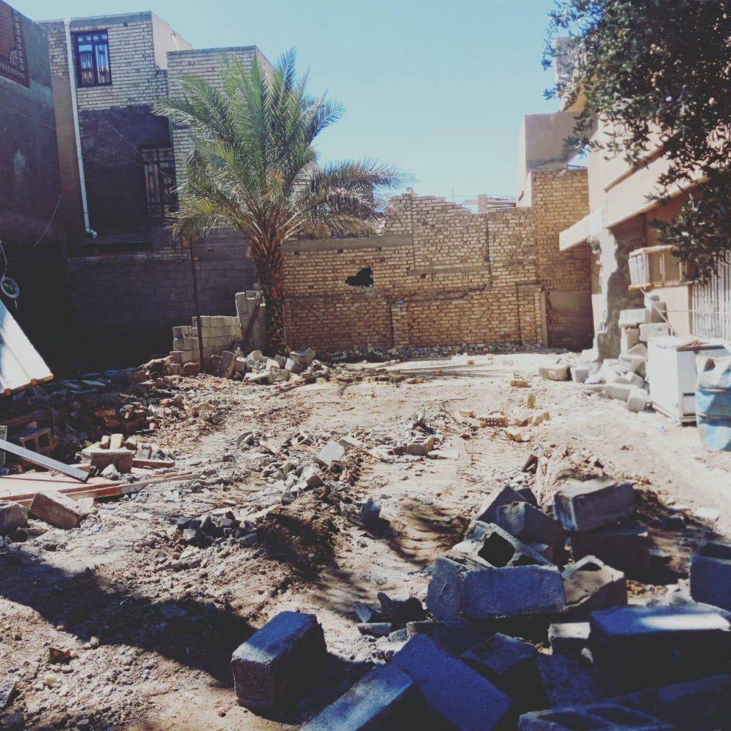 بالصور: ازالة دور متجاوزة على الاراضي الحكومية جنوب بغداد