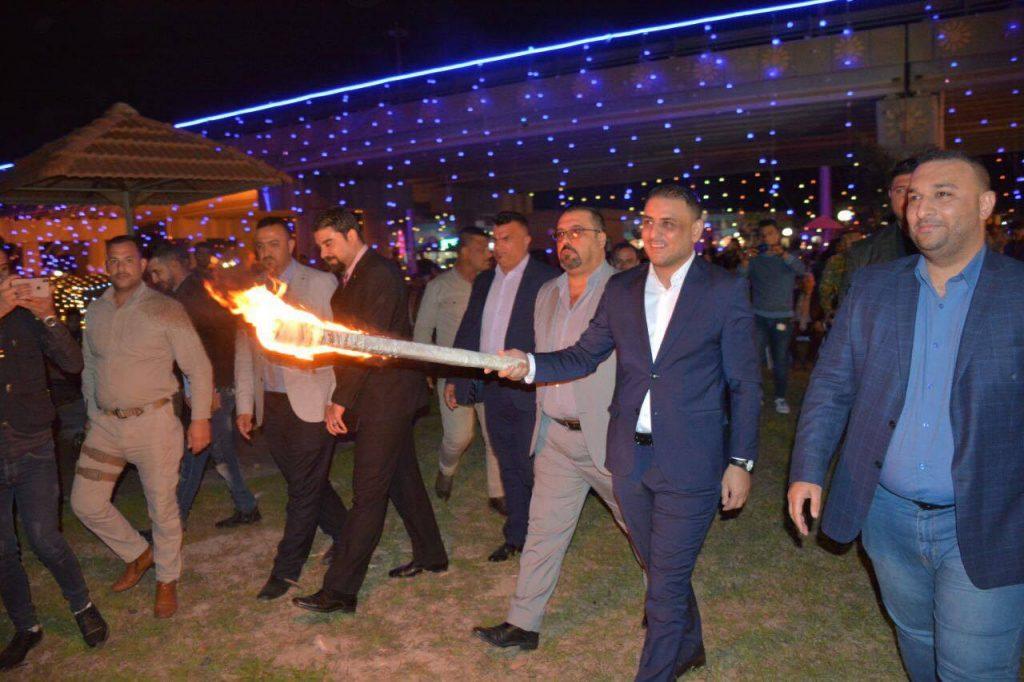 """صور: الكرد الفيلية يشعلون """"نار نوروز"""" في واسط"""