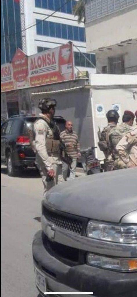 عمليات بغداد توضح ملابسات اقتحام حزب الحل.. المسألة تتعلق بكرفان على  الرصيف