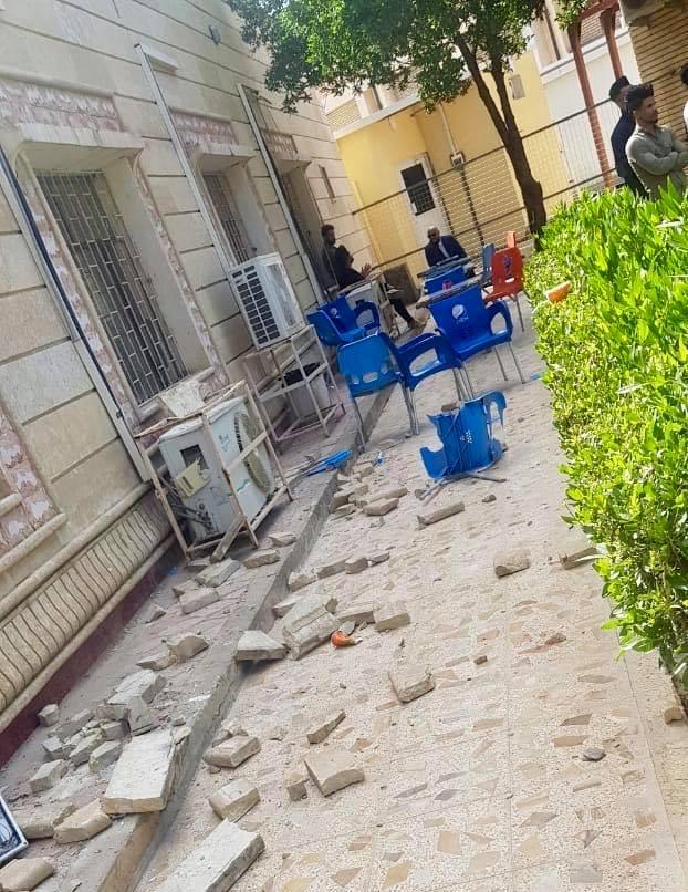 الرياح تصيب 3 طالبات في جامعة البصرة