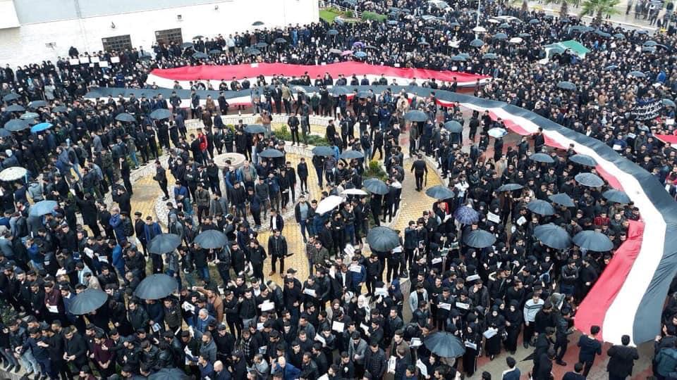 """بالصور: هكذا تضامن طلبة جامعة الموصل مع حادثة """"العبّارة"""""""