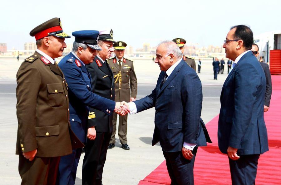بالصور .. استقبال رئيس الوزراء عادل عبدالمهدي في مصر