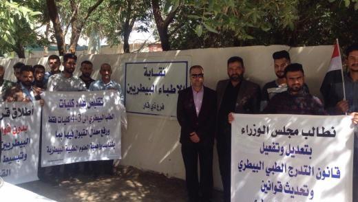 عشرات الأطباء البيطريين يتظاهرون في ذي قار: هذه مطالبنا (صور)