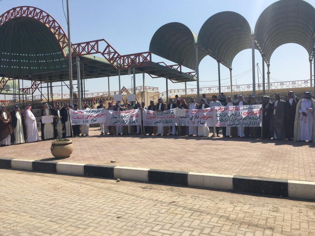 """صور وفيديو: فلاحو المثنى يطالبون بتعويض محاصيلهم المتضررة جراء """"الامطار والسيول"""""""
