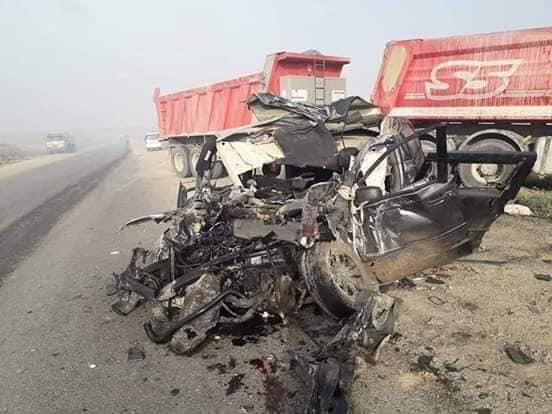 صور: حادث سير مروع يؤدي بحياة 6 مدنيين شمال شرقي ديالى