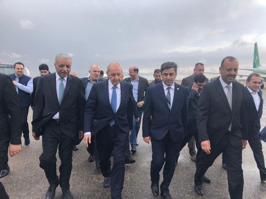 رئيس مجلس النواب اللبناني يصل إلى النجف