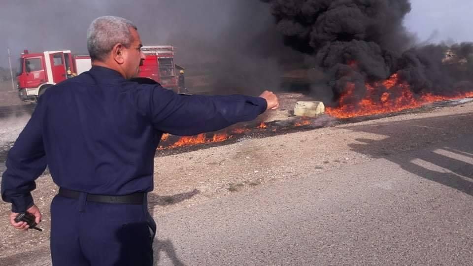صور: ضحايا في انقلاب صهريج بنزين على طريق بغداد – بابل