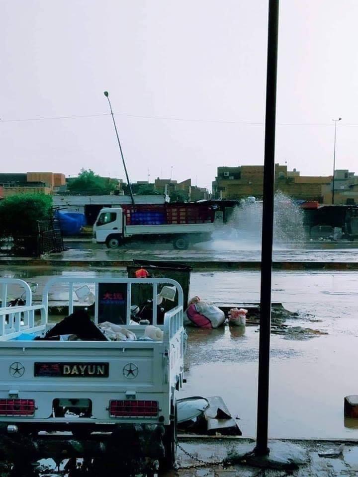 بعد موجة مطر هائلة.. ذي قار تعلن النفير العام (صور)