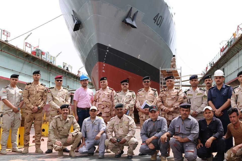 """سفينة الإسناد البصرية تعود إلى العمل في """" أجنادين"""""""