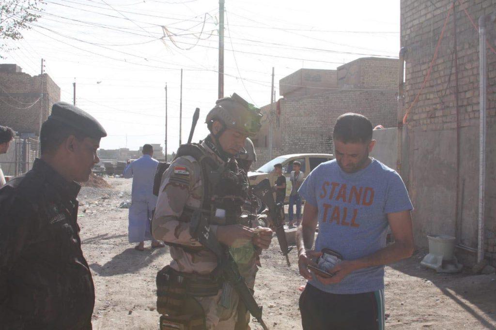 صور: حملة تفتيش كبرى في منطقة الحسينية شمال بغداد
