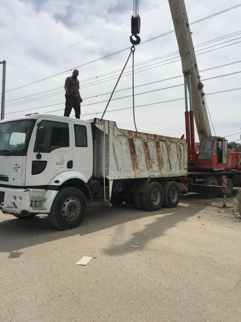 صور: رفع إحدى سيطرات شارع الضغط غرب بغداد