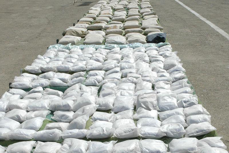 صورة: ضبط مخدرات وحشيشة معدة للتهريب في إيران