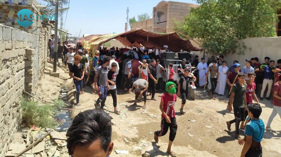 ذي قار: تصادم بين قوات مكافحة الشغب والمتظاهرين (صور)