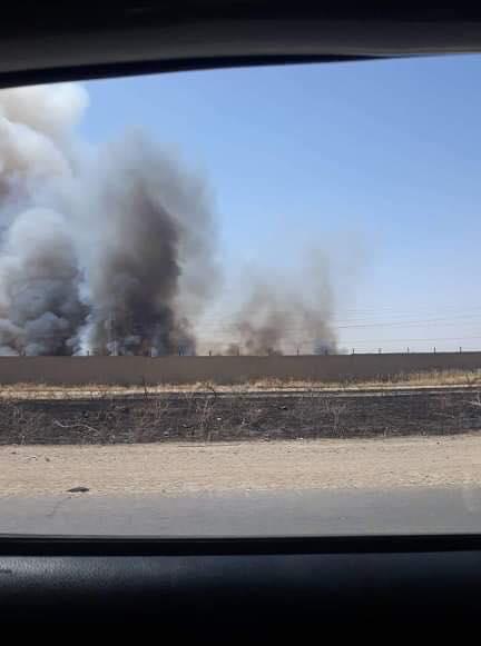 صور.. حريق كبير داخل شركة غاز كركوك