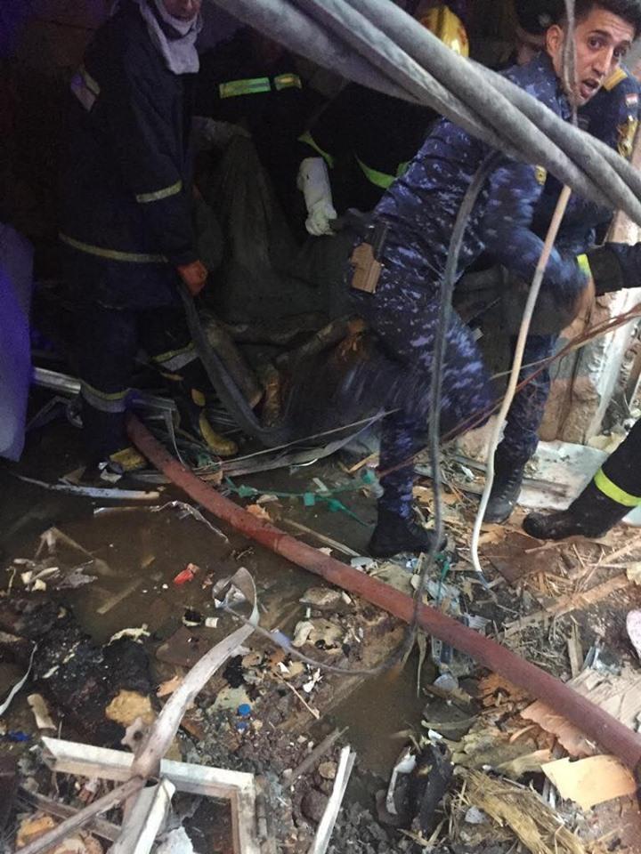 مقتل صاحب محل لبيع المشروبات الكحولية في بغداد بعبوة ناسفة (صور)