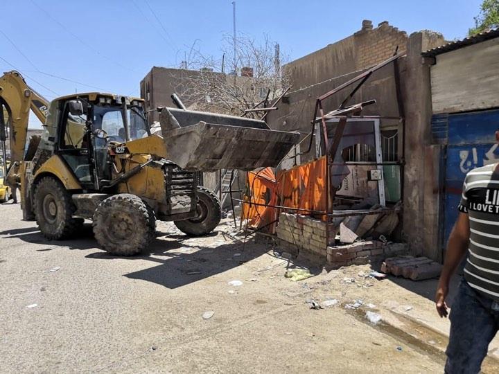 """حملة صباحية: إزالة تجاوزات في شارع """"قاسم أبوالكص"""""""