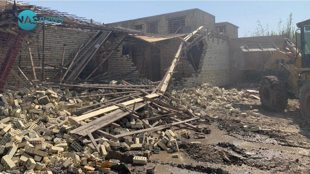 صور.. إزالة دور مُتجاوزة في بغداد