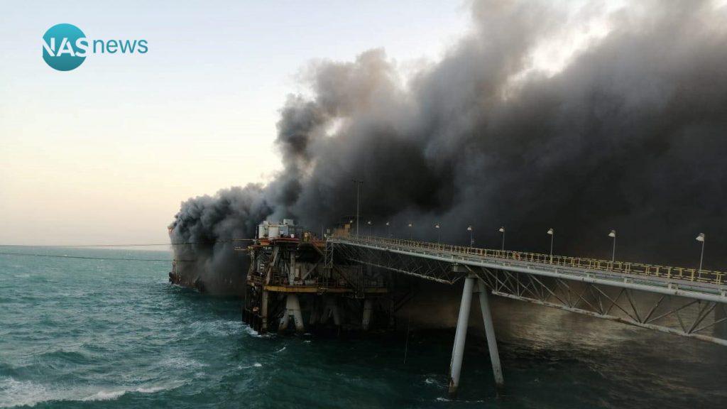 فيديو وصور: حريق هائل في ميناء البصرة النفطي.. والحمامي يطالب سفن الإنقاذ بالتدخل