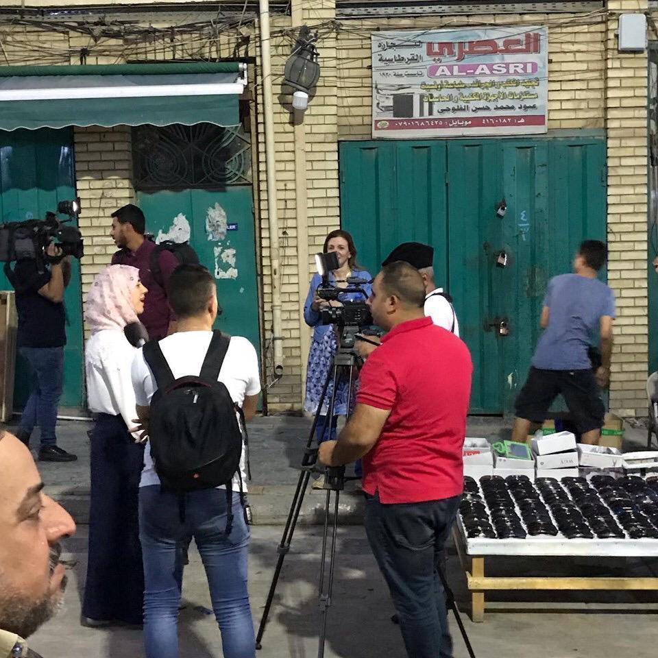 """مقترح لافتتاح شارع المتنبي في بغداد """"ليلاً أيضاً"""": صور من التجربة الأولى"""