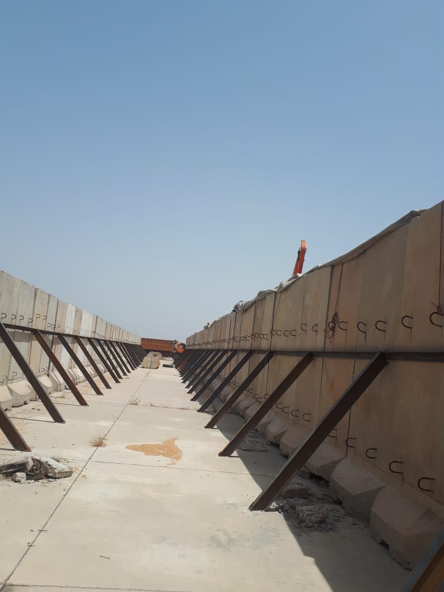 مُقطِّعة أوصال بغداد في الكوت: الكتل الكونكريتية مخازن للحنطة (صور)