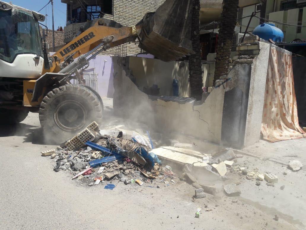 """حملة """"جريئة"""" لأمانة بغداد في مدينة الصدر والشعلة (صور)"""