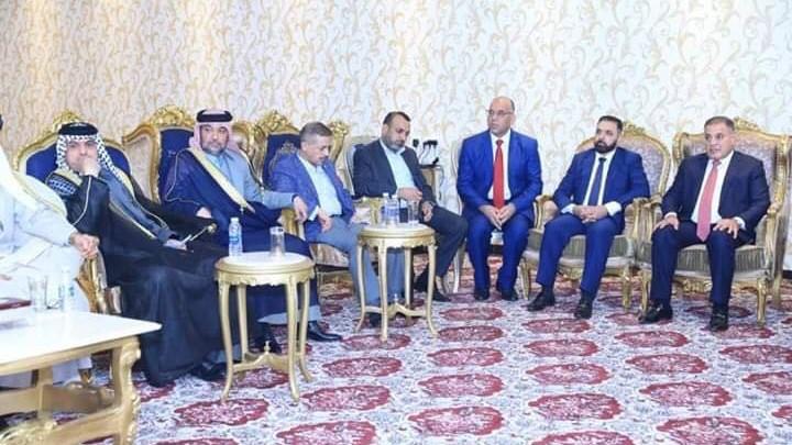 صور: أبو مازن في اجتماع مع الحلبوسي وقياديين من الفتح وسائرون