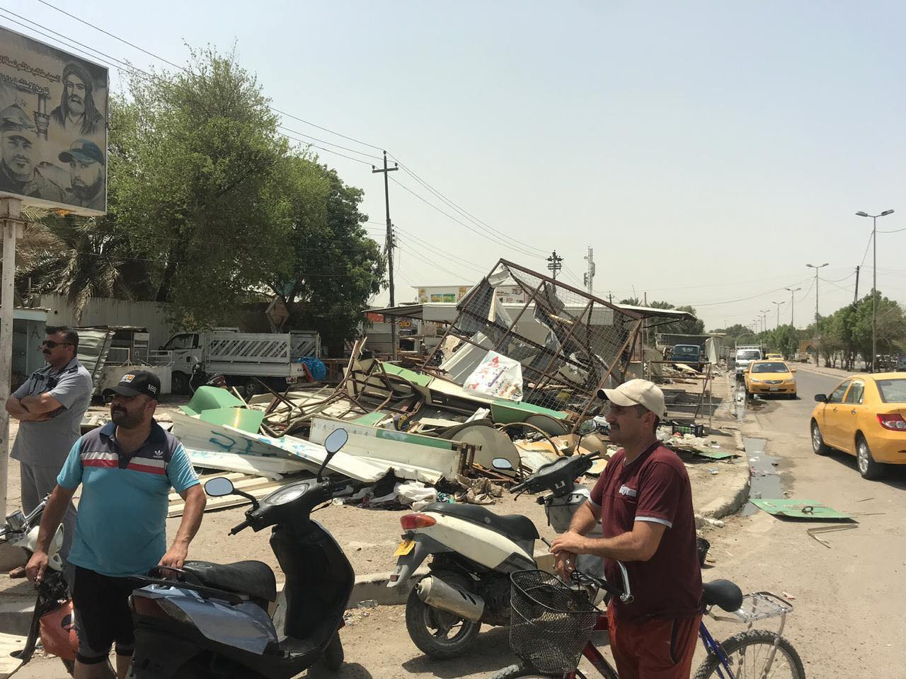 """حملة جديدة """"أشد"""": أمانة بغداد تزيل سوقاً من 50 كشكاً"""
