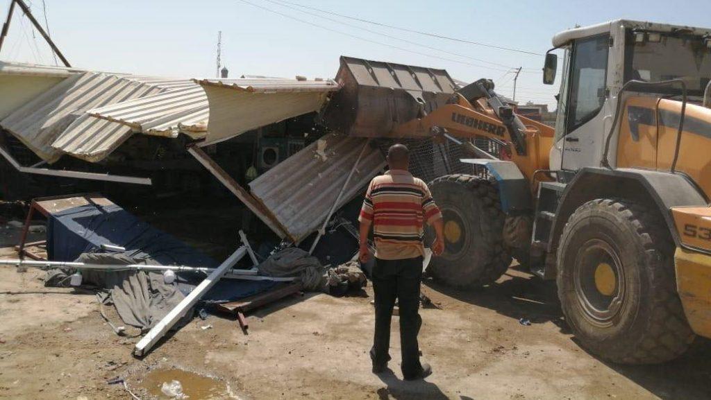 أمانة بغداد تُزيل التجاوزات في حي الصحفيين وشارع موسى بن نصير (صور)
