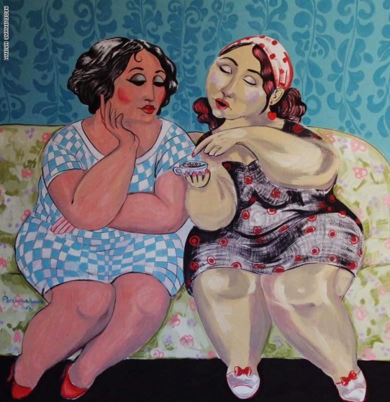 """من هُنّ """"نساء المدينة الفاضلة"""" في لوحات الفنان عبد الوهاب حوّام؟"""