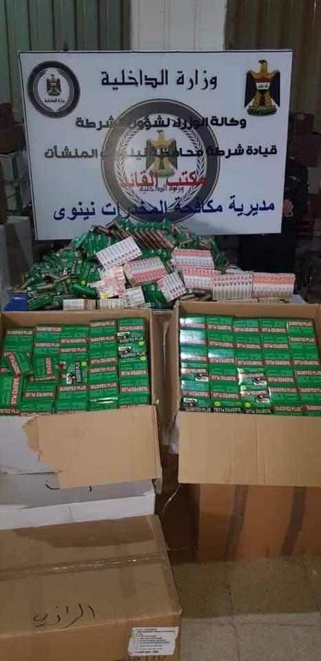 """ألف دولار وبراد: إحباط تمرير شحنة ضخمة من المخدرات في """"عقرب الموصل"""""""