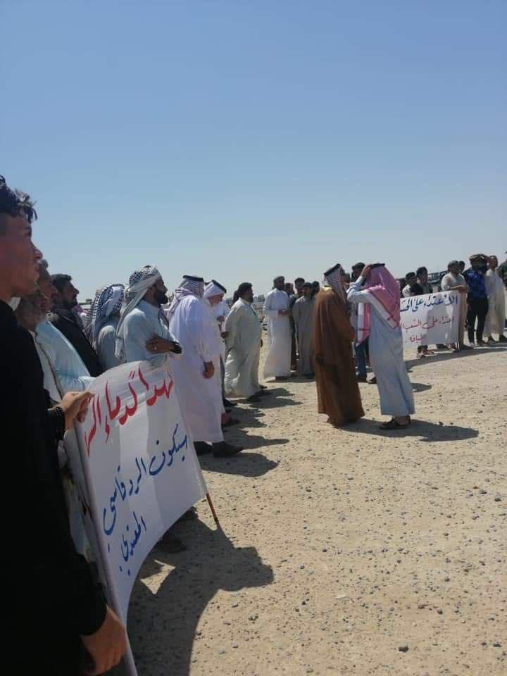 تظاهرة عشائرية في الأنبار للتنديد بقصف مقرات الحشد الشعبي (صور)