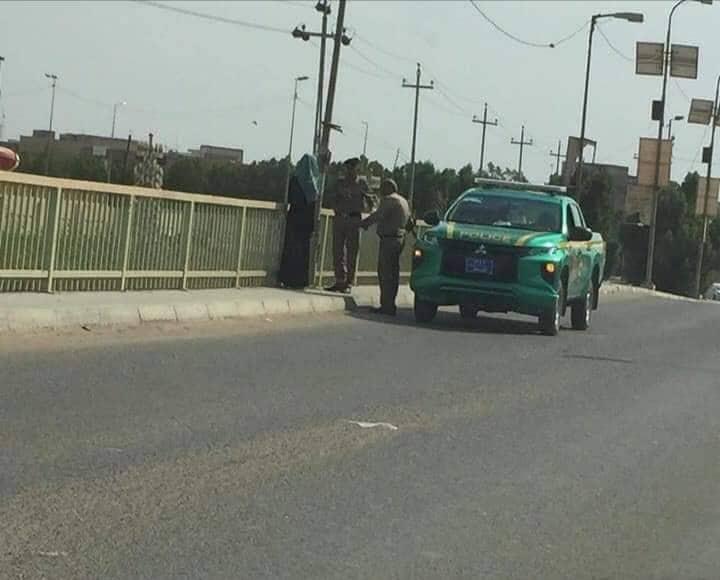 الديوانية: فتاة تحاول رمي نفسها من جسر عباس عطيوي.. كيف أنقذتها النجدة (صورة)