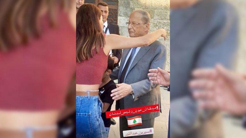 صور سيرين عبد النور مع الرئيس اللبناني تشعل مواقع التواصل