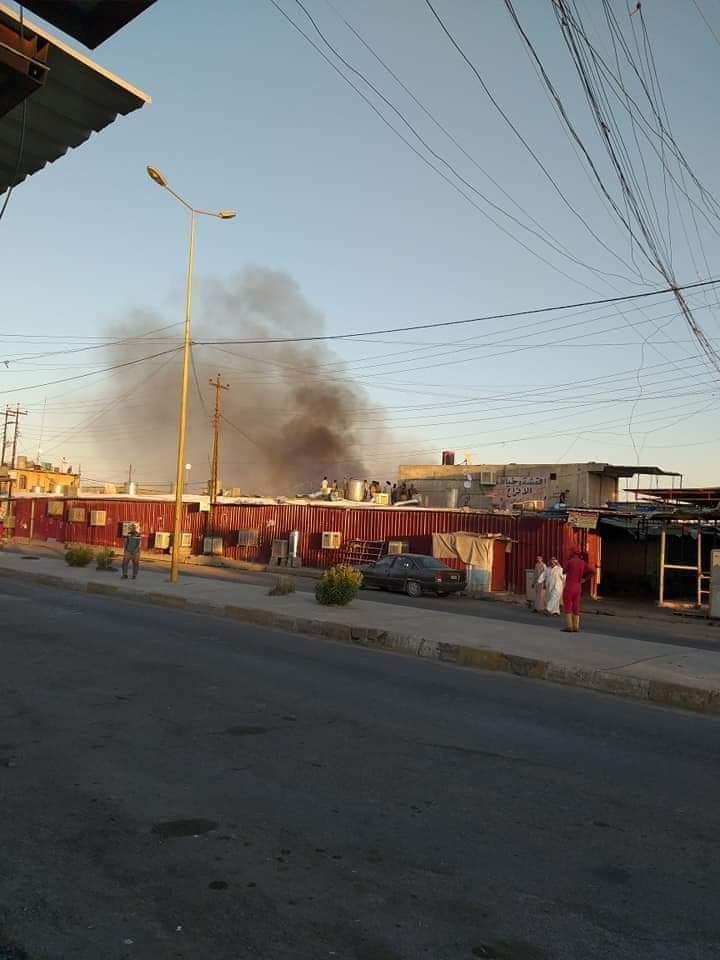 اندلاع حريق بسوق الجدعة في قيارة الموصل