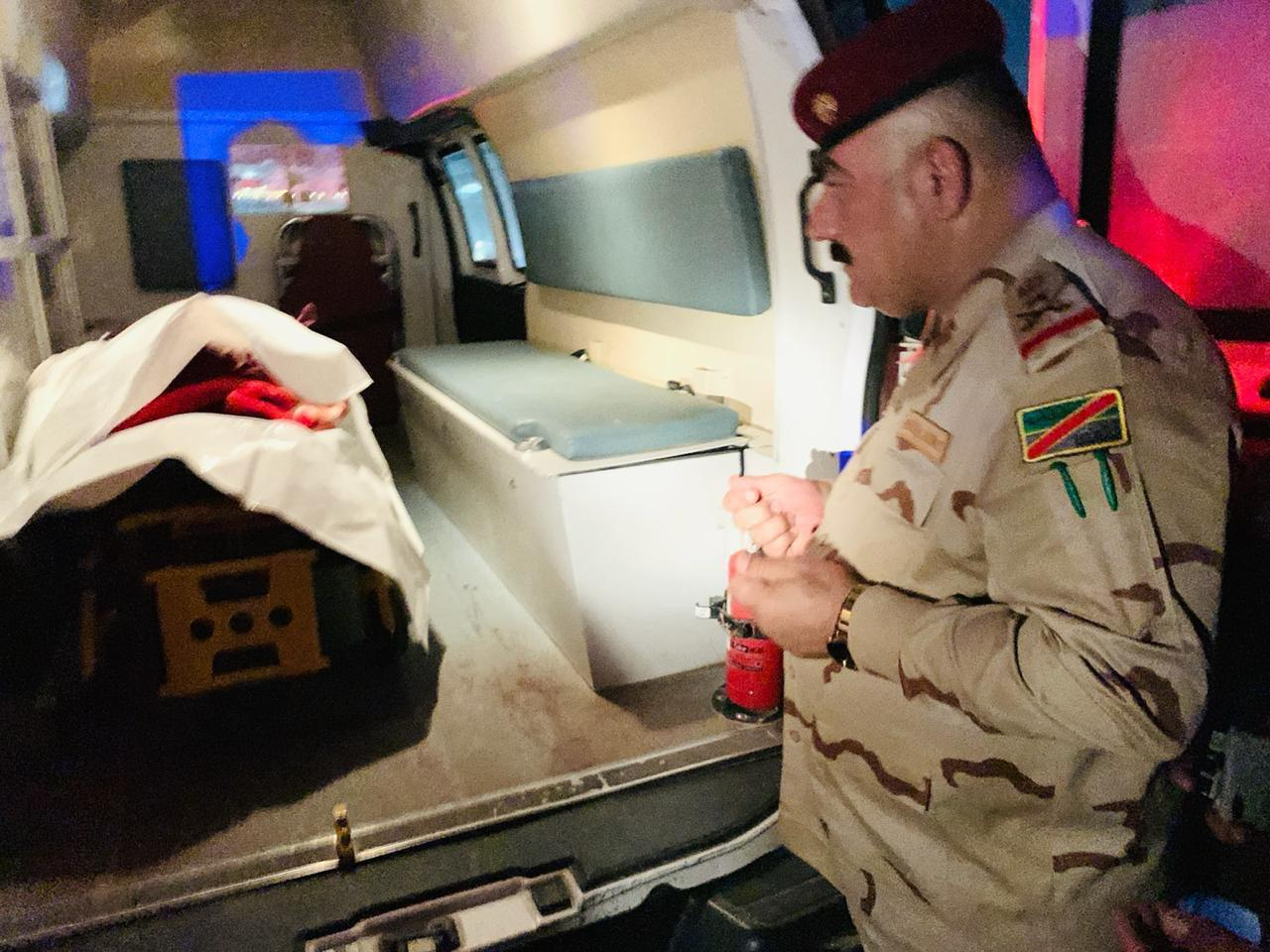 وصول جثمان إبراهيم الخياط إلى كركوك (صور)