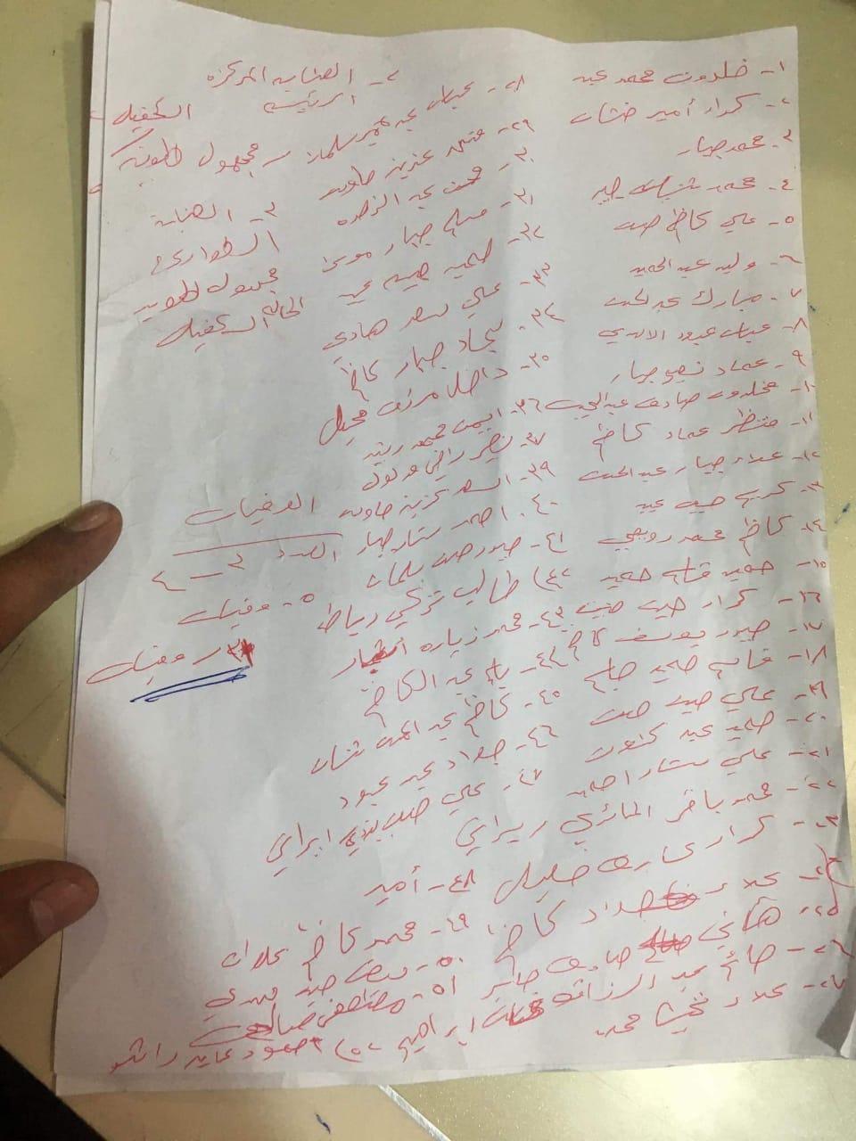 الحصيلة النهائية لضحايا حادثة تدافع الزائرين في كربلاء
