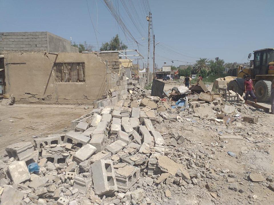 """""""شفلات"""" أمانة بغداد تزيح تجاوزات شرقي العاصمة (صور)"""