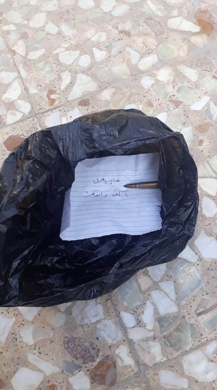 """رصاصة في """"علاكَه"""" سوداء: موظف حكومي شارك برفع تجاوزات يتعرض لتهديد بالقتل"""