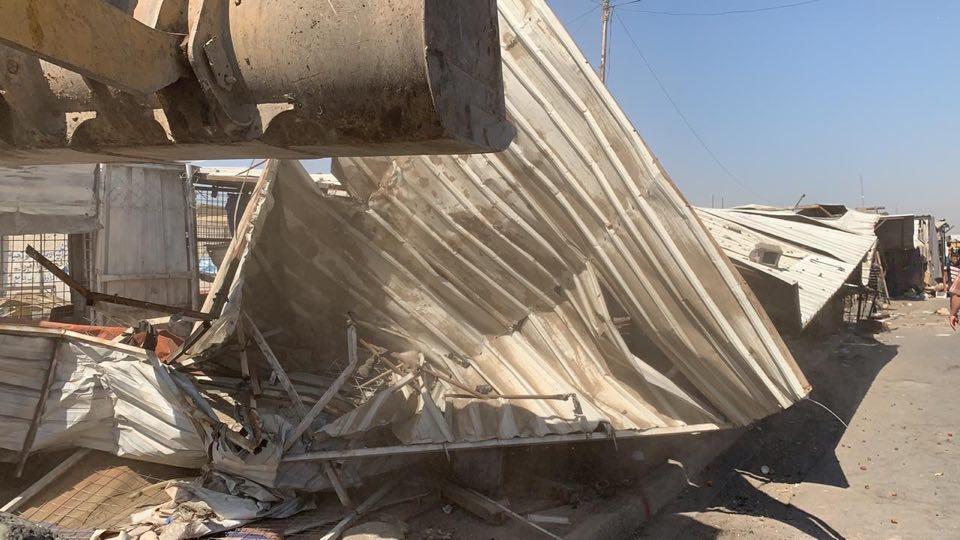 حملة إزالة التجاوزات تقتحم مدينة الصدر