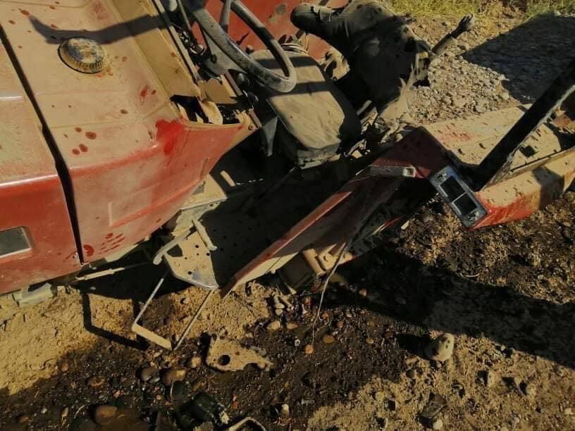 """عبوتان """"تفتكان"""" بجرار.. إصابة 3 مزارعين في ديالى (صور)"""
