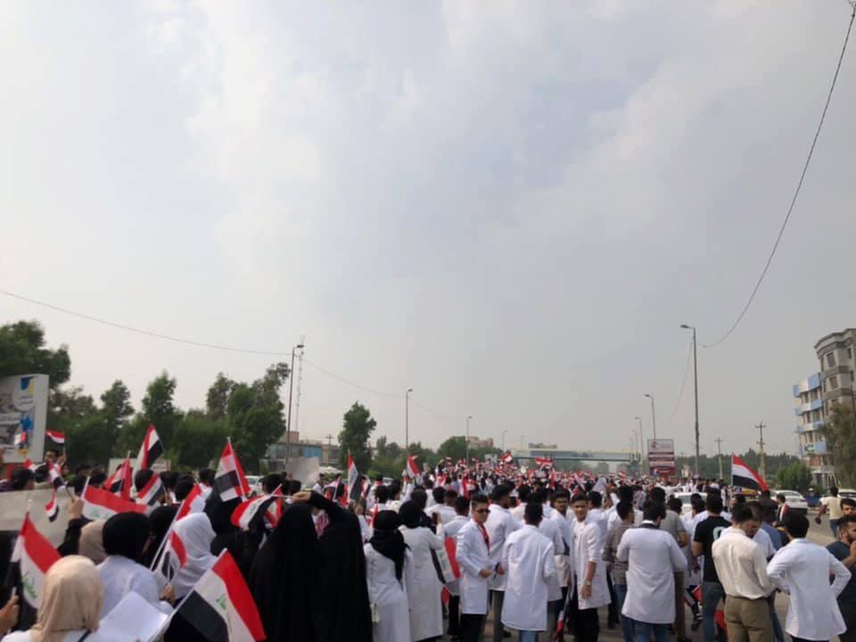 صور: تضامن طلابي في النجف مع الاحتجاجات الشعبية