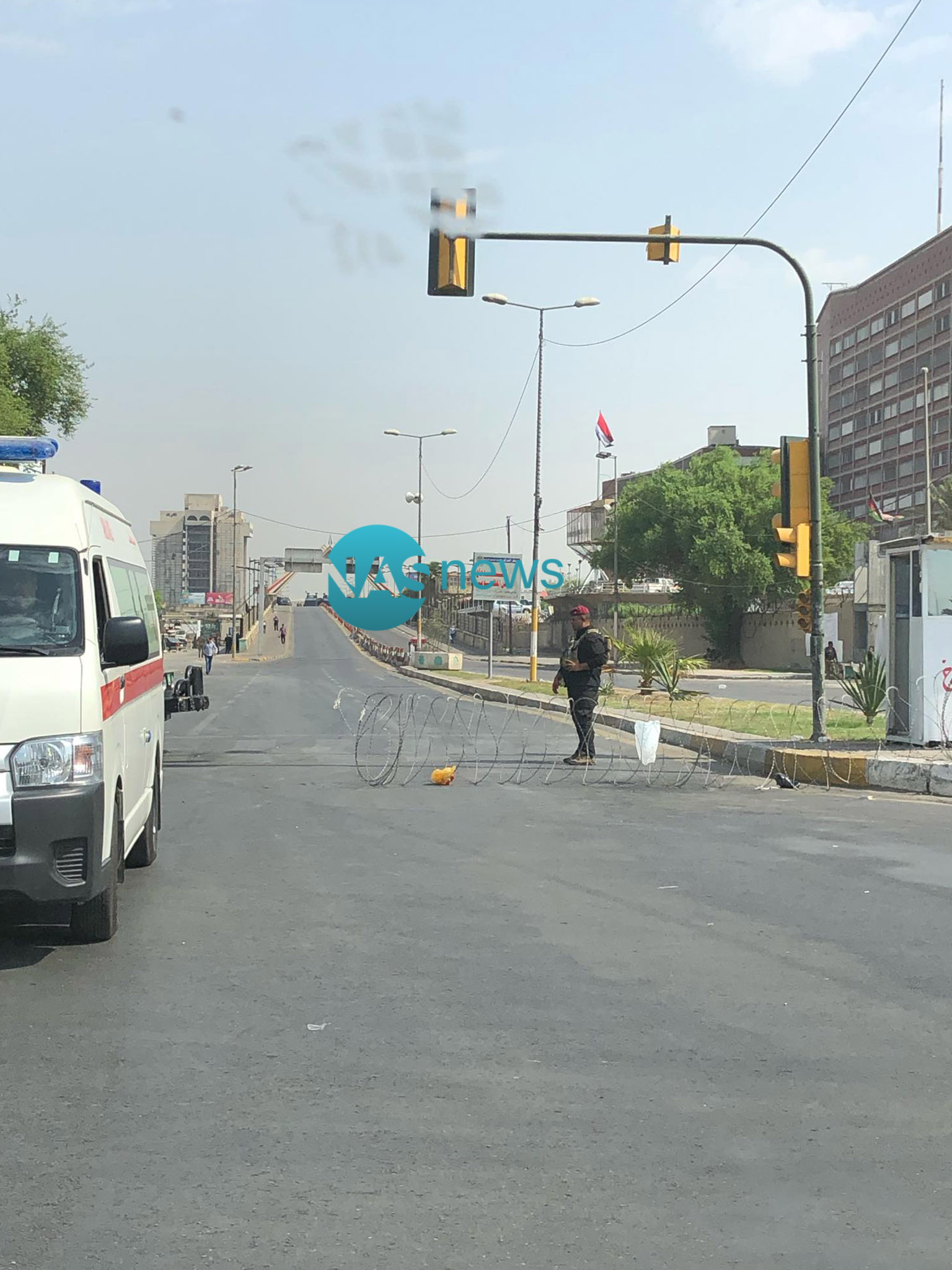 """""""ناس"""" يرصد الإجراءات الأمنية في بغداد.. ساحة التحرير تتحول إلى """"ثكنة عسكرية""""!"""