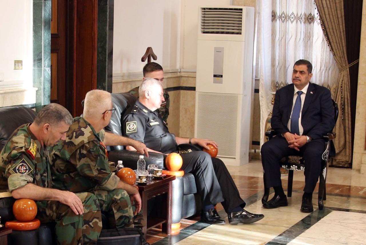 """اجتماع بممثلي """"سوريا وروسيا"""" واتصال بتركيا.. الشمري يبحث الاخطار المحتملة من """"نبع السلام"""""""