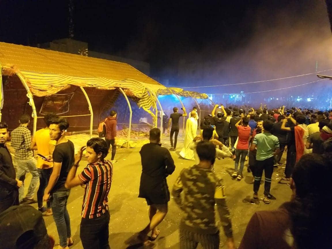 اعتصام الشطرة: القوات الأمنية ترد بالرصاص على الألعاب النارية! (فيديو)