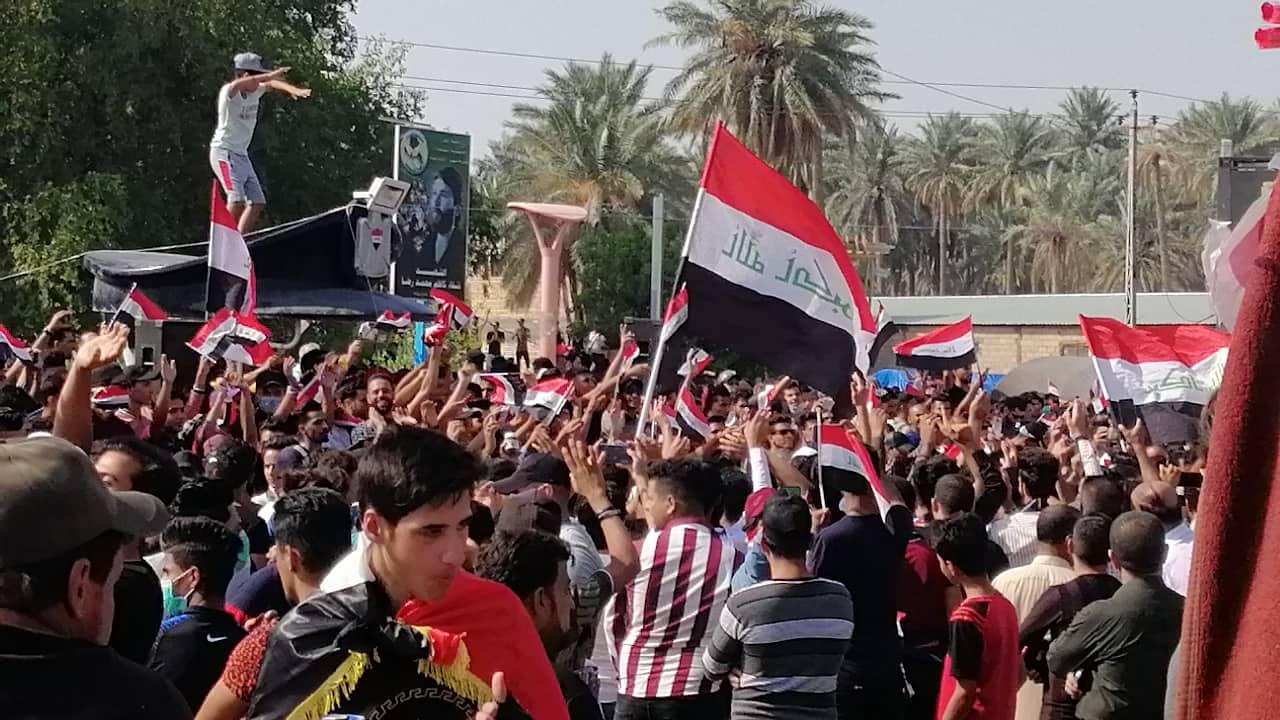 صور: طلبة الديوانية مستمرون في الإضراب