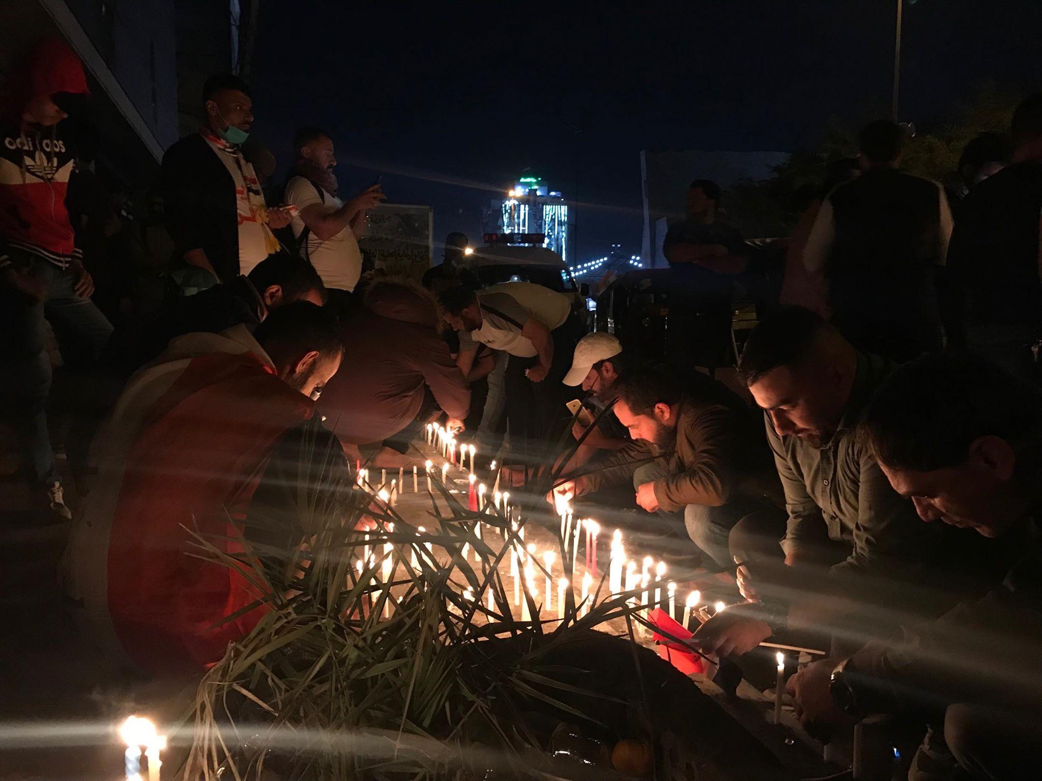 """التحرير تنتعش بعد ليلة دامية.. مسيرات لـ """"التك تك"""" وشموع على أرواح الضحايا (فيديو)"""